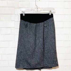 Motherhood Maternity Marled Knit Pencil Skirt S